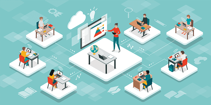 Online school covid learning