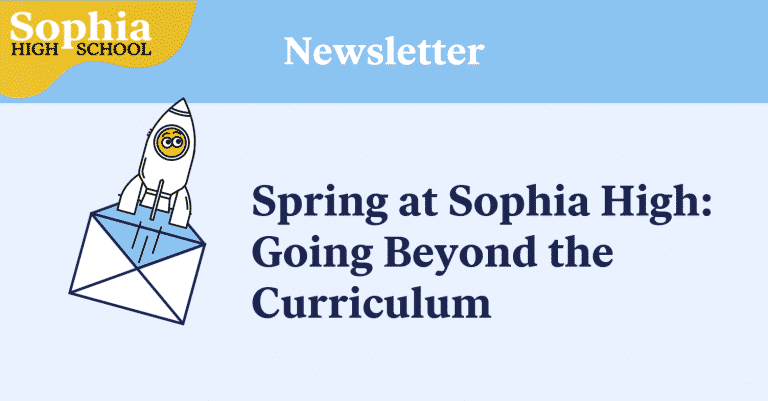 March Newsletter Spring at Sophia High School